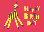 Cute happy birthday card — Stockvektor
