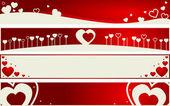 Valentine internet banners — Stock Vector