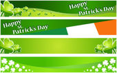 Vector illustration of st. Patrick day banners — Stock Vector