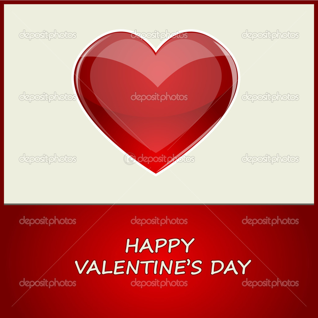 Vector illustration of valentine card — Stock Vector #19360721