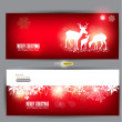 Elegant Christmas banners with deers — Stock Vector #12080066