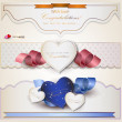 Set of holiday banners with ribbons. Vector background — Stock Vector #12080099