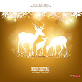 Elegant Christmas banners with deers — Stock Vector