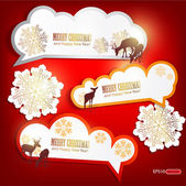 Set of winter bubbles, stickers, labels, tags — Stock Vector