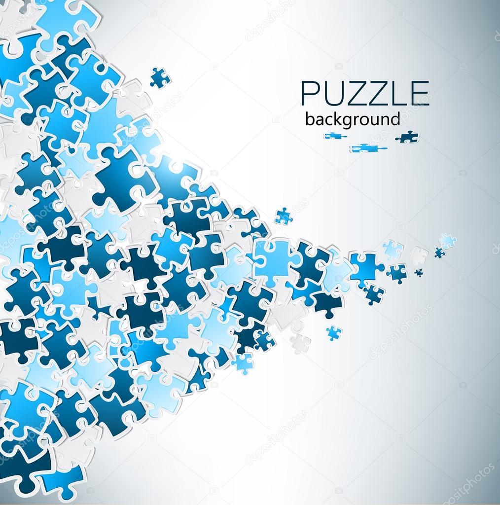 Puzzle Pieces Background Free Vector Puzzle Pieces — Vector by