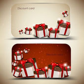 Collection of discount cards with gifts. Vector background — Stock Vector