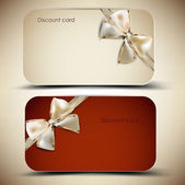 Collection of gift cards with ribbons. Vector background — Vector de stock