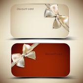 Collezione di carte regalo con nastri. sfondo vettoriale — Vettoriale Stock