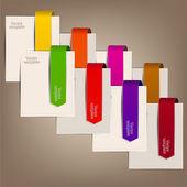 Segnalibri colorati e frecce per testo — Vettoriale Stock