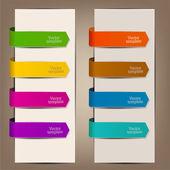 Signets colorés et des flèches pour texte — Vecteur