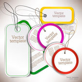 Set van bubbels, stickers, etiketten, tags. vector sjabloon — Stockvector