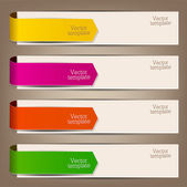 Colorful bookmarks and arrows for text — Stok Vektör