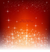Red beautiful Christmas background. — Stock Vector