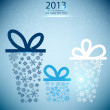 Christmas gift boxes made from snowflakes. Christmas background — Stock Vector