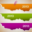 Torn paper banners with space for text. 2013 — Stock Vector #13267404