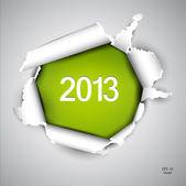 Torn księga z miejsca na tekst. 2013 — Wektor stockowy