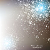 Elegant Christmas background with snowflakes and place for text. — Vector de stock