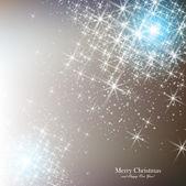 Elegant jul bakgrund med snöflingor och plats för text. — Stockvektor