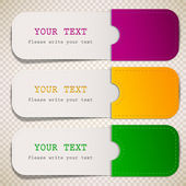 Colorful bookmarks with place for text — Stockvector