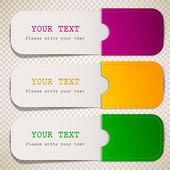 Färgglada bokmärken med plats för text — Stockvektor