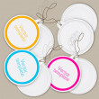 Set of bubbles, stickers, labels, tags. Vector template — Imagen vectorial