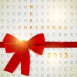 Holiday banner with red ribbons. Vector background. 2013 New Ye — Stock vektor