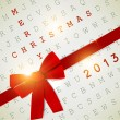 Holiday banner with red ribbons. Vector background. 2013 New Ye — Stockvektor