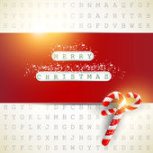 "Background made from letters with highlighted keywords ""Merry Ch — Vecteur"