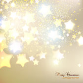 Elegant Christmas background with stars and place for text. Vect — Stock Vector