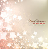 Elegant Christmas background with stars and place for text. Vect — Vector de stock