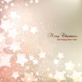 Elegantní vánoční pozadí s hvězdami a místo pro text. vect — Stock vektor