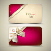Collection of gift cards with ribbons. Vector background — 图库矢量图片