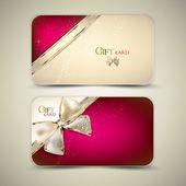 丝带礼品卡的集合。矢量背景 — 图库矢量图片