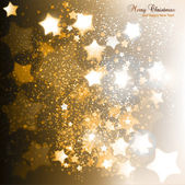 Elegant Christmas background with golden stars. Vector illustrat — Stock Vector