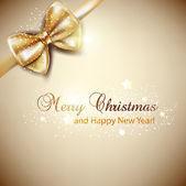 Elegantní vánoční pozadí se zlatým lukem. vektorový pozadí — Stock vektor