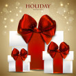 Elegant background with Christmas gifts — Imagen vectorial