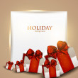 Elegant background with Christmas gifts — Stock Vector