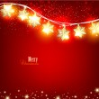 Red Christmas background with luminous garland. Vector illustra — Stock Vector #14050927