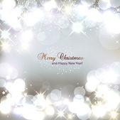 Elegantní vánoční pozadí s sněhové vločky a místo pro text. — Stock vektor