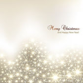 Elegant Christmas background with snowflakes and place for text. — Stock Vector