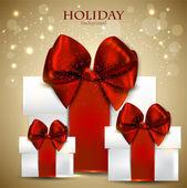 Fundo elegante com presentes de natal — Vetor de Stock