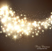 Elegant Christmas background with snowflakes and place for text. — Stock vektor