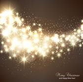 Elegante weihnachten hintergrund mit schneeflocken und platz für text. — Stockvektor