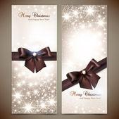 Collection de cartes-cadeaux et des invitations avec des rubans. ba vector — Vecteur