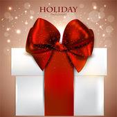Elegante fondo con regalo de navidad — Vector de stock