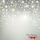 Elegante sfondo di natale con fiocchi di neve e posto per testo. — Vettoriale Stock