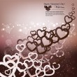 Elegant background  with  paper hearts and copy space. Vector il — Imagens vectoriais em stock