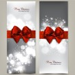 Greeting cards with red bows and copy space. Vector illustration — Stock Vector #17411713