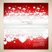 Piękne kartki z białego papieru serca i kopiować miejsca. — Wektor stockowy