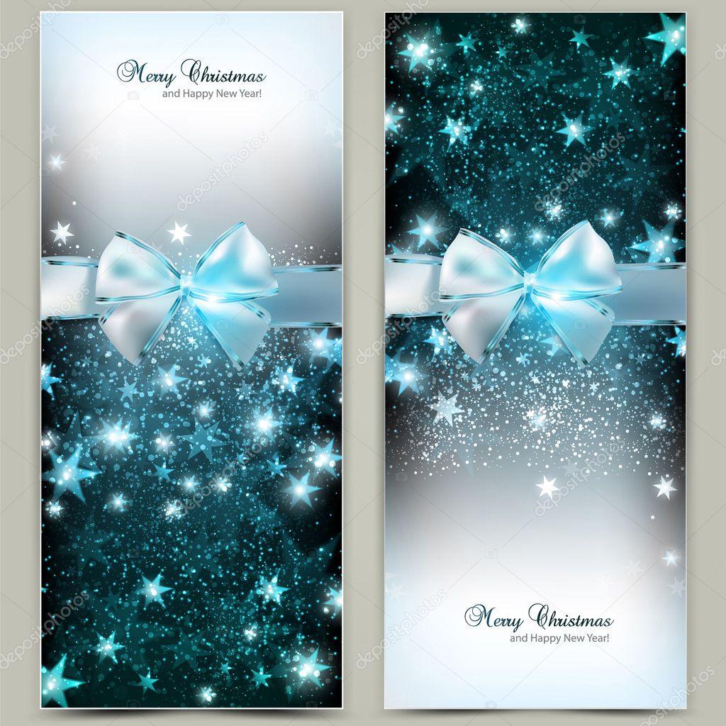 Elegantes tarjetas de felicitaci n de navidad con lazos - Tarjetas de navidad elegantes ...